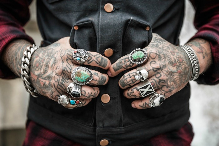 Hands with lots of tattoos