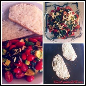 Avocado, Tomato and Almond Bake - Jess Explains It All