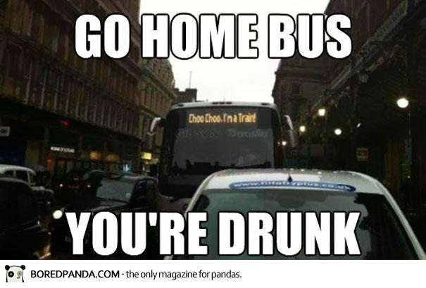 Drunk bus meme