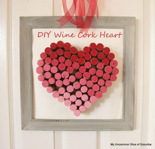 "DIY Wine Cork Heart - <a href=""http://jessexplainsitall.com/diy-wine-cork-heart/"" target=""_blank"">Jess Explains It All</a>"