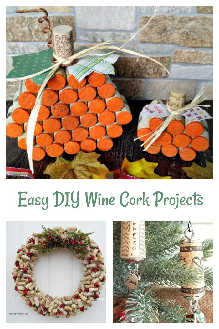 Quick and easy crafts made from corks