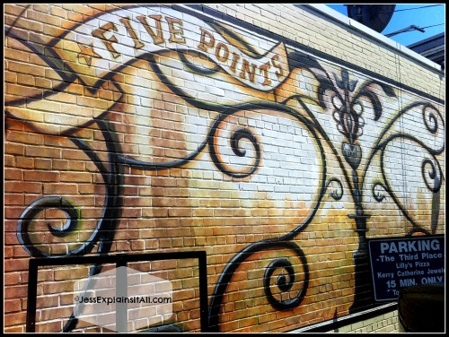 Five Points wall mural