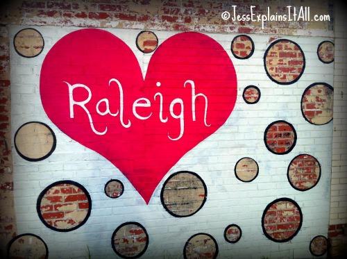 NC Street Art - Raleigh in a heart