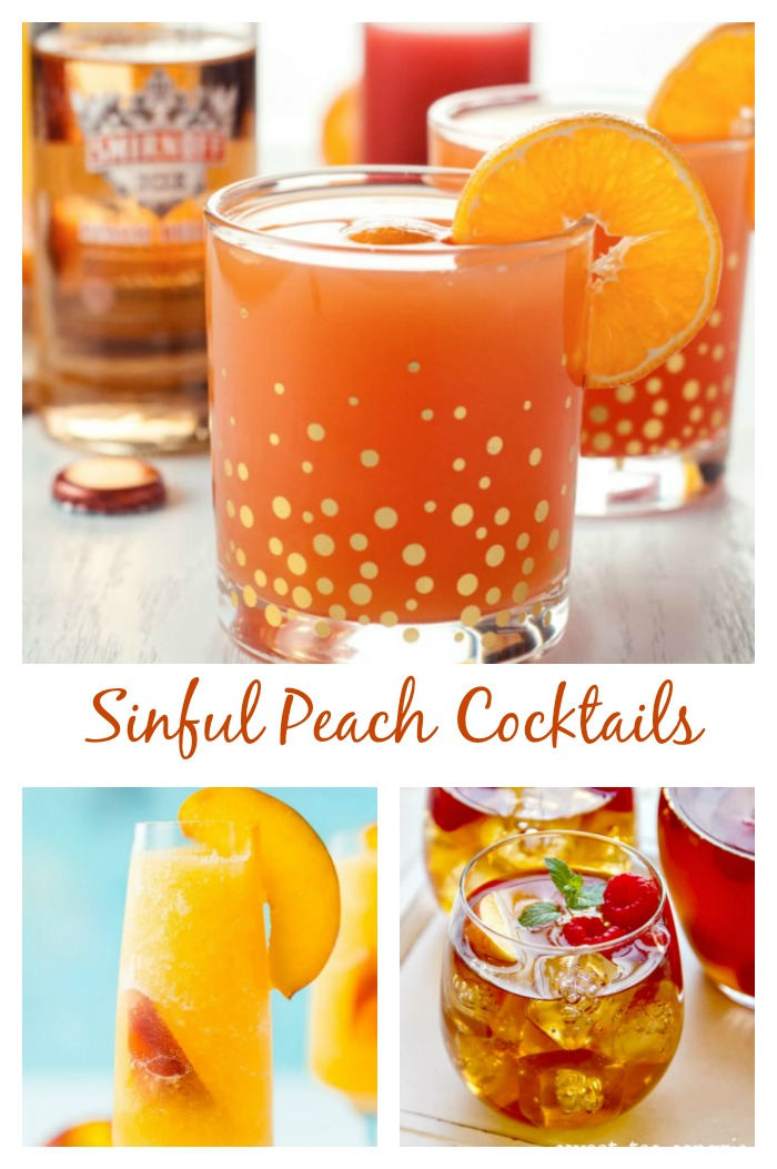 Peach cocktails to beat the summer heat