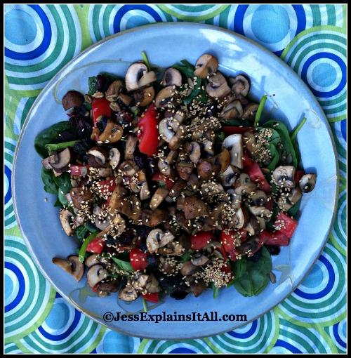 Summer Mushroom Salad - Jess Explains It All