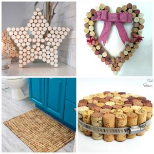 wine cork star, heart, bath maqt and trivet