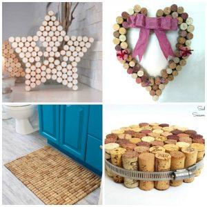 wine cork star, heart, bath maqt and trivet