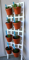 DIY Space Saving Herb Garden