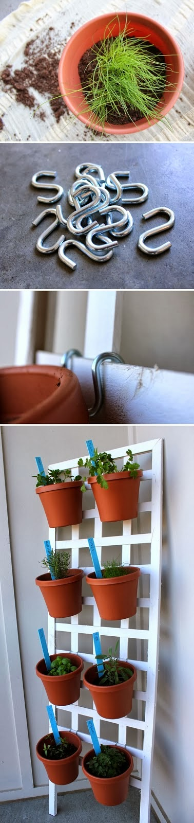 "DIY Space Saving Herb Garden - <a href="" http://jessexplainsitall.com/diy-space-saving-herb-garden/ ‎"" target=""_blank"">Jess Explains It All</a>"