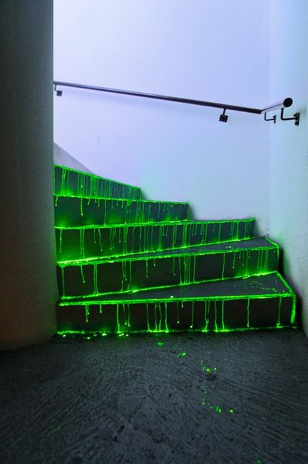 "DIY Spooky Glowing Steps - <a href=""https://jessexplainsitall.com/diy-spooky-glowing-steps/ "" target=""_blank"">Jess Explains It All</a>"
