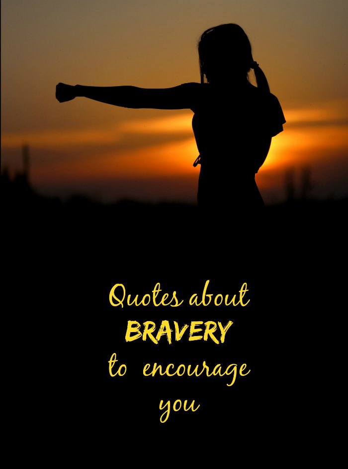 Girl in the sunset - Be brave quotes