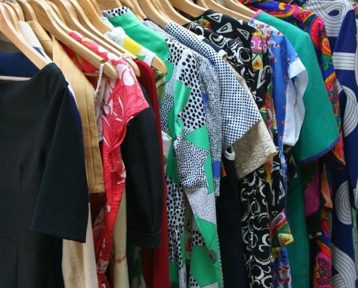 Dresses in a closet