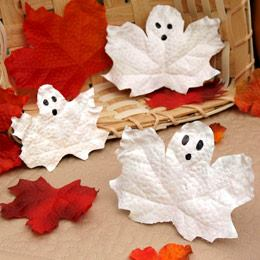 DIY Spooky Ghost Leaves