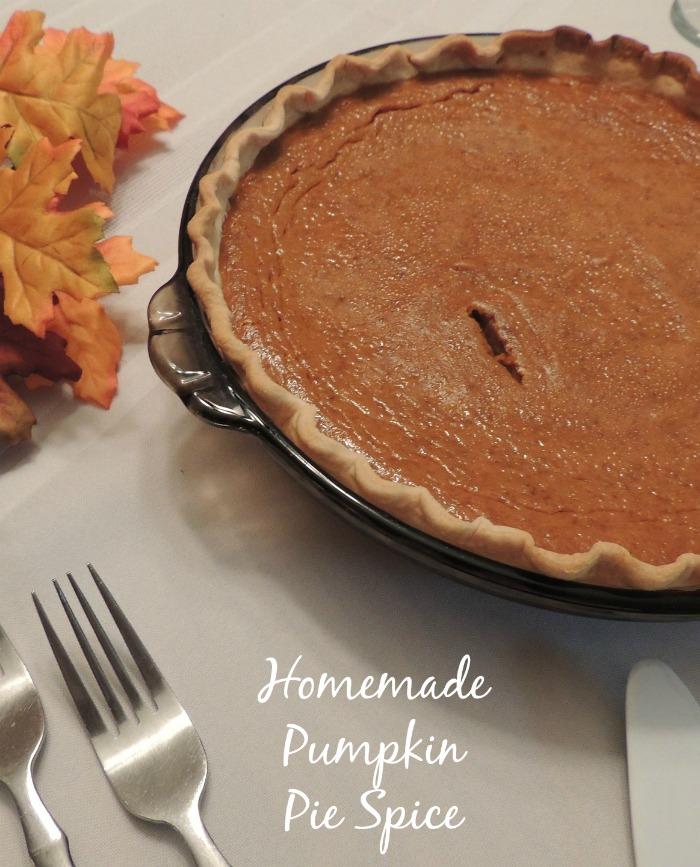 Making homemade pumpkin pie spice