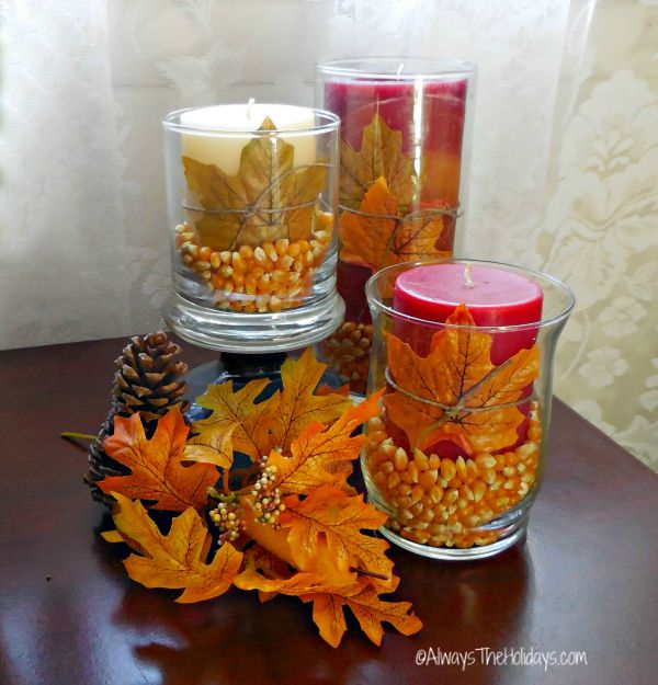 Easy fall DIY projects: Autumn Table decor