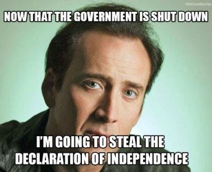 Nicholas Cage is Behind the Government Shutdown