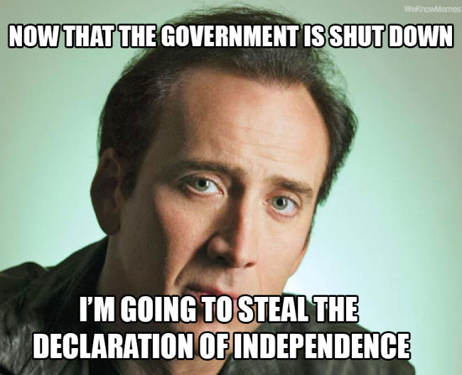 "Nicholas Cage is Behind the Government Shutdown - <a href=""http://jessexplainsitall.com/nicholas-cage/"">Jess Explains It All</a>"