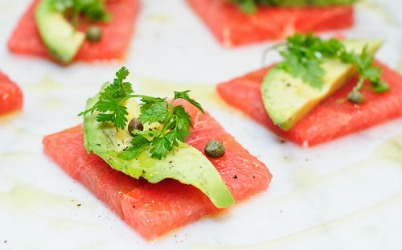 Grapefruit and Avocado Crudo