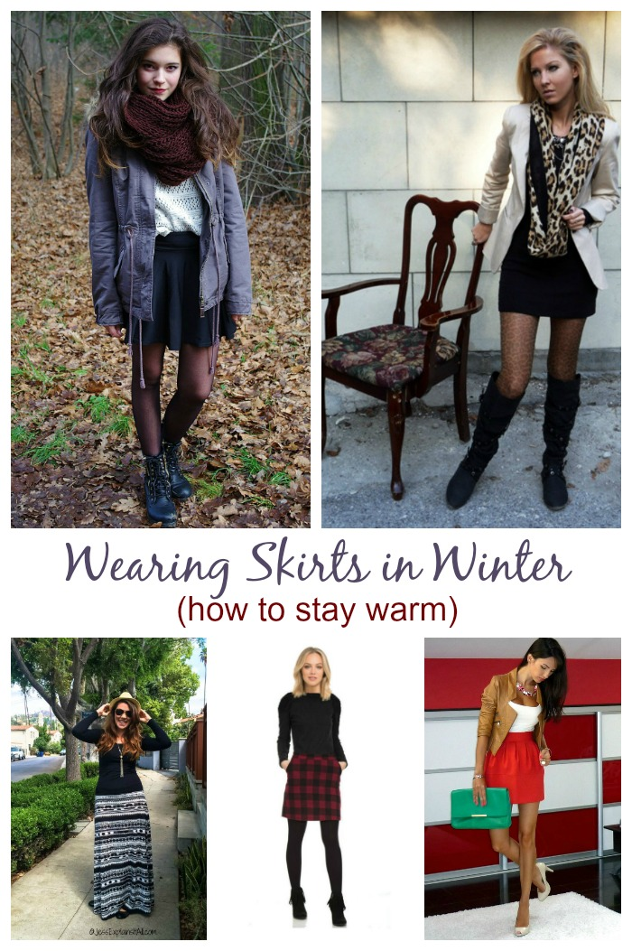 Wearing Skirts in the winter - How to stay warm