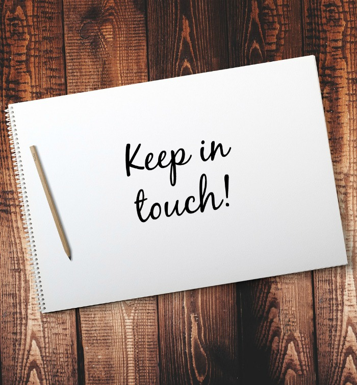 New Year's Resolutions - Keep in touch
