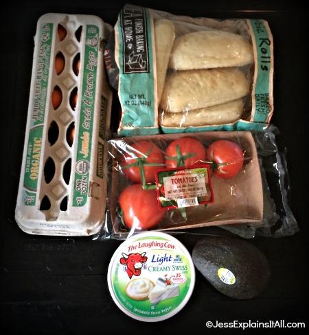 ingredients for veggie eggs benedict