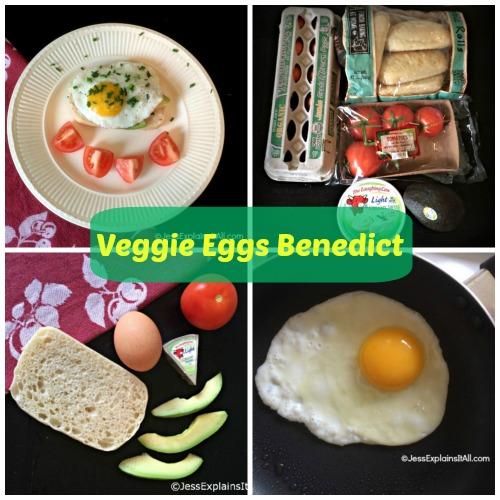 Veggie Eggs Benedict collage