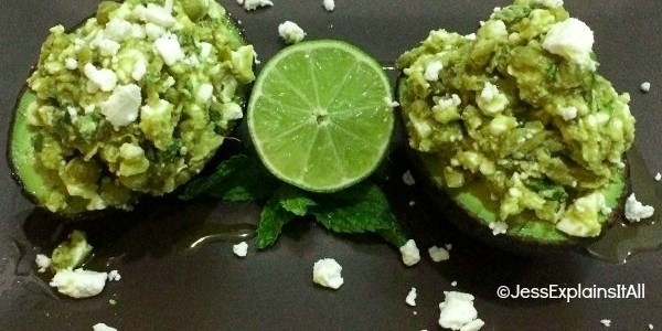 Avocado Boats with Pea, Feta and Mint