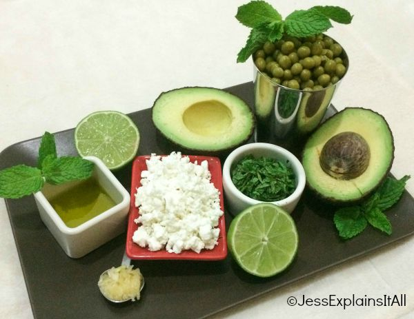 ingredients for avocado boats