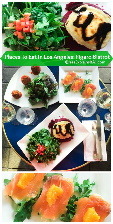 food at Figaro Bistrot - from my Places To Eat In Los Angeles series