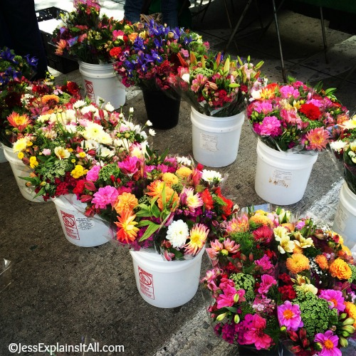 The flower displays are the culver city farmers market in los angeles always make me smile. Read more on the blog!