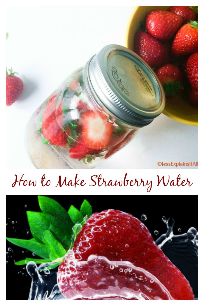 Making Strawberry infused water