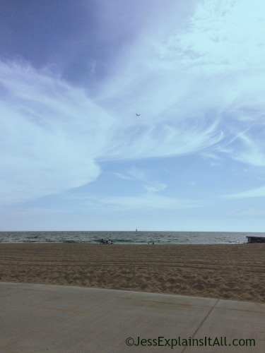 View of the beach in Redondo, California.