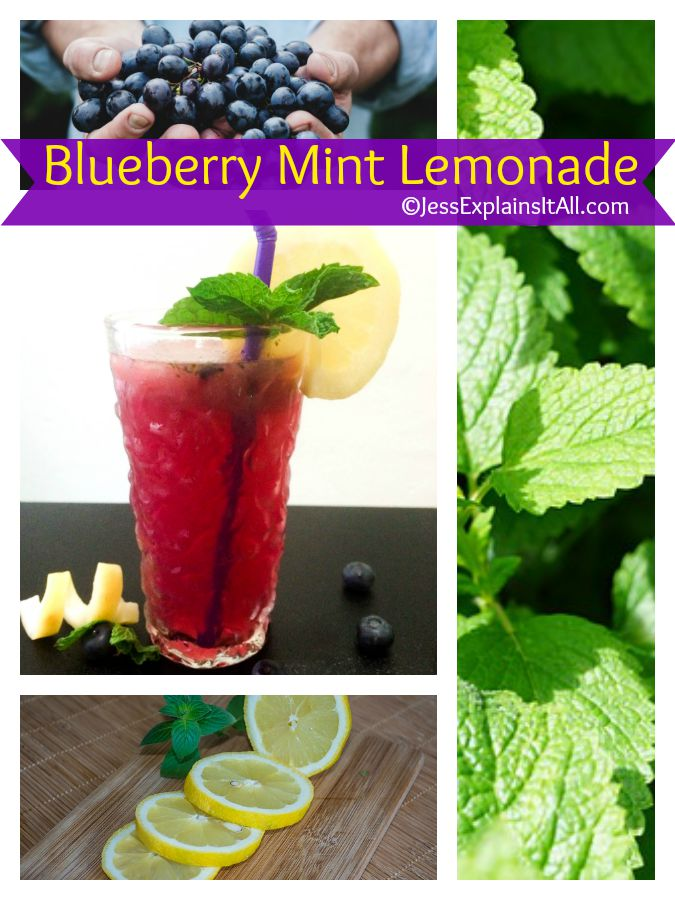blueberry mint lemonade is a perfect summer cooler
