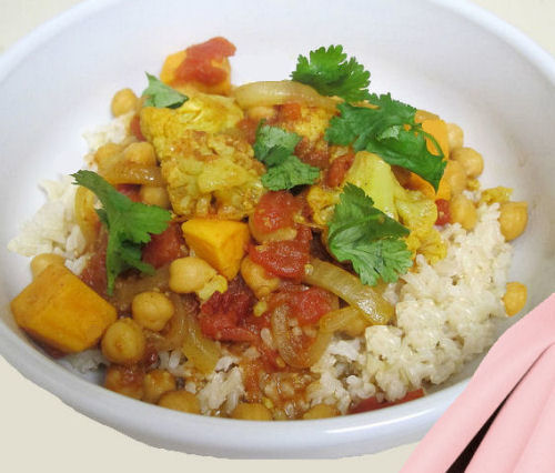 Crock pot vegan vegetable curry