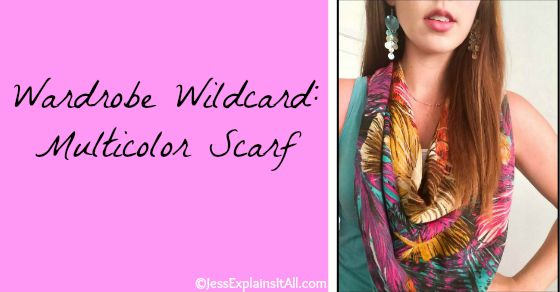 There's a lot of validity to the minimalist wardrobe, but sometimes I want to go crazy and jazz up my outfit with something pretty like a multicolor scarf!!