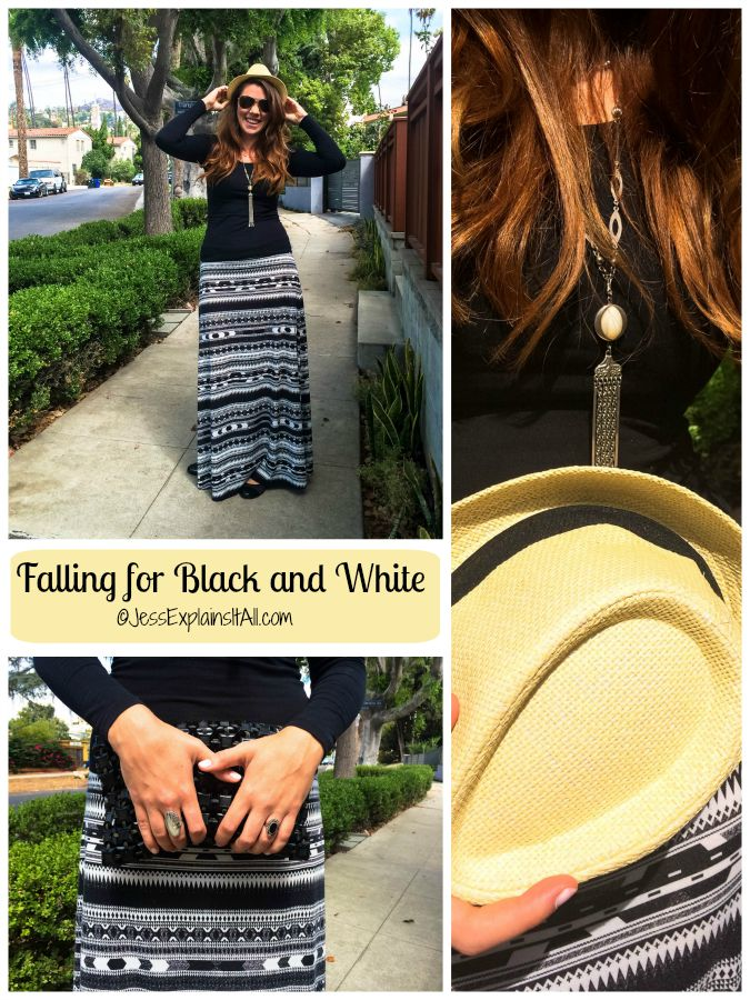 I love fall - it's the time of year you can throw on hats, or bulk up with layers without overheating. This year I notice I'm falling for black and white!