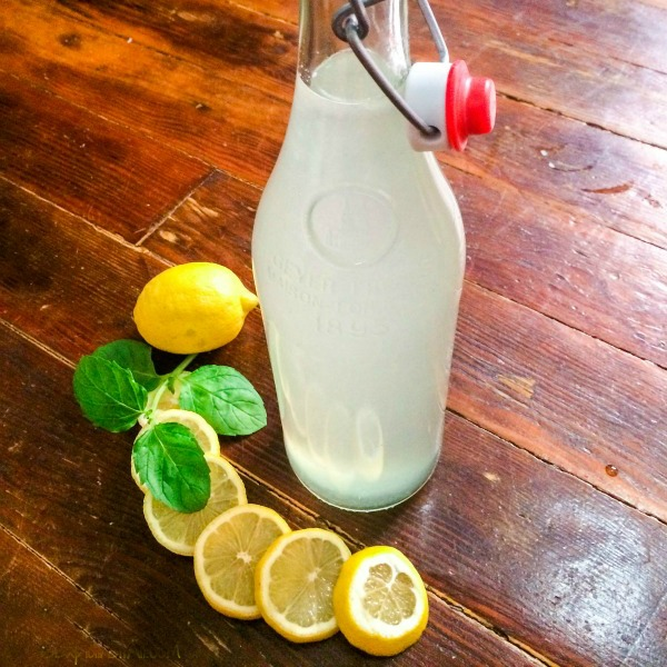 Homemade Lemonade with lemon slices