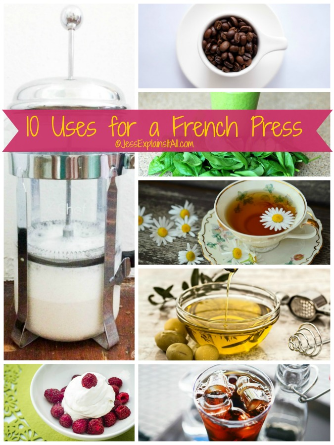 Have you ever wondered if you can use your french press for more than coffee? Well good news, here's an article with 10 uses for your french press!