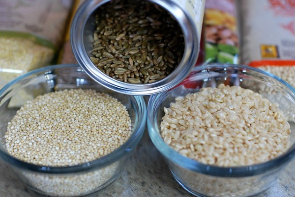 Quinoa, rice and grains