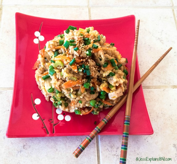 Craving some chicken fried rice? This recipe is here to save the day! It's sure to make a bad day better, and a good day fabulous!