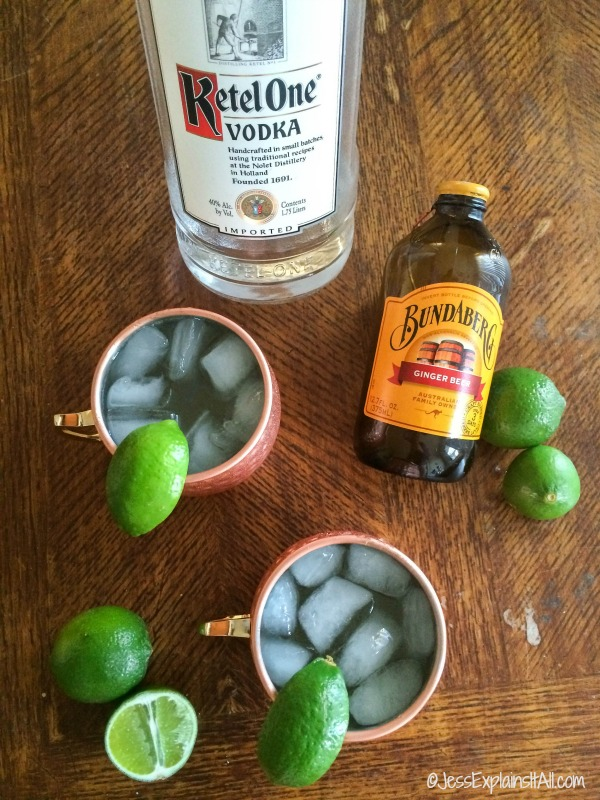 vodka, ginger beer and Moscow mules