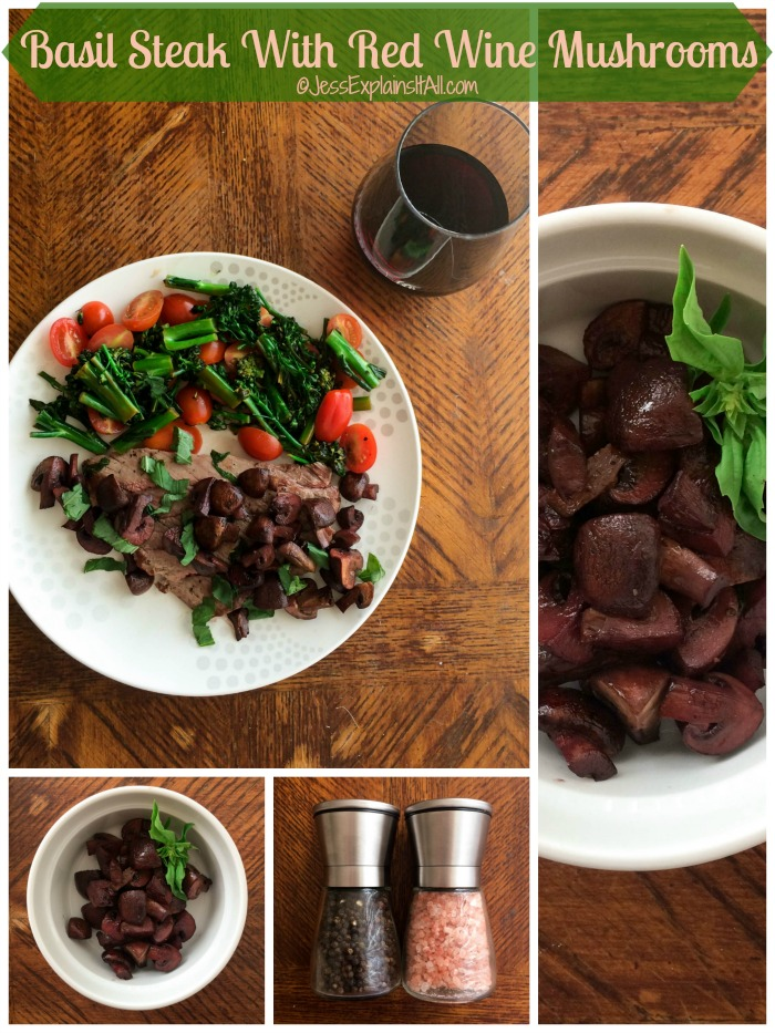 ... steak with red wine mushrooms. It's sure to wow your dinner guests