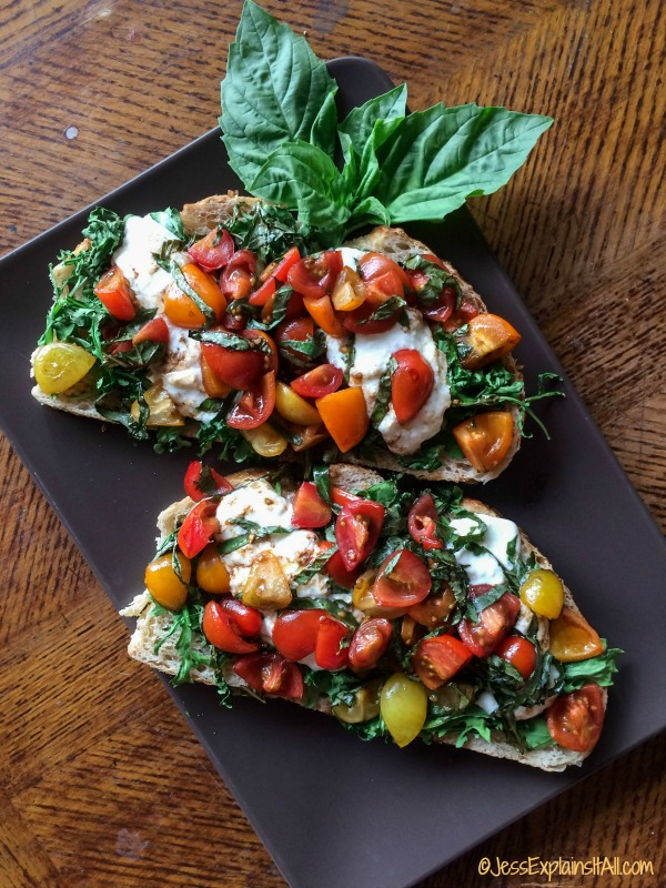 bruschetta slices on a plate
