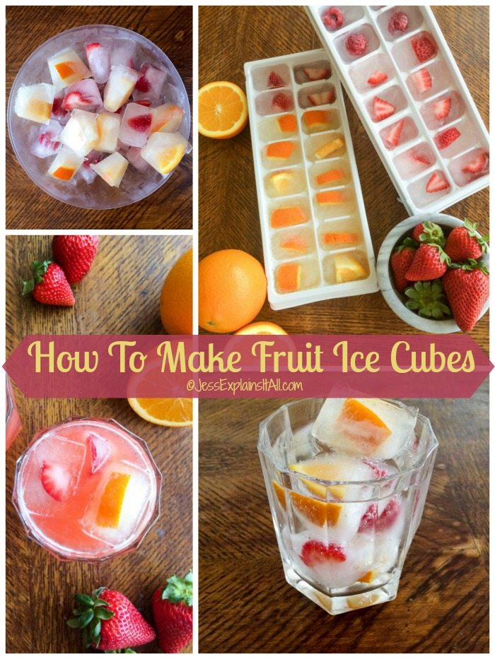How To Make Fruit Ice Cubes Jess Explains It All