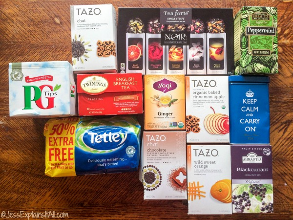 packages of tea