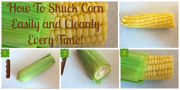 Best way to shuck corn