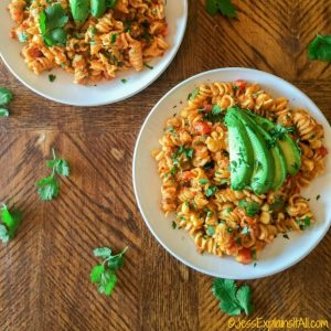 Mac and cheese with avocado