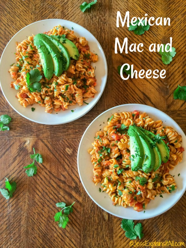 Mexican Mac and Cheese with avocado