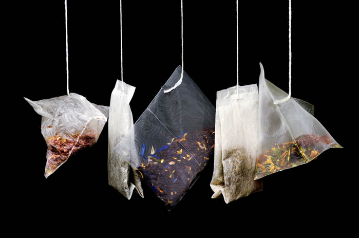 High quality tea bags with gourmet tea.