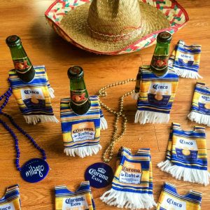 Sombrero with beer sarapes
